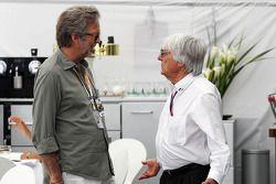 Eric Clapton, Rock Legend with Bernie Ecclestone, CEO Formula One Group