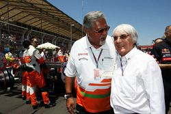 Dr. Vijay Mallya, Sahara Force India F1 Team Owner with Bernie Ecclestone, CEO Formula One Group