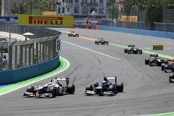 Sergio Pérez, Sauber y Bruno Senna, Williams