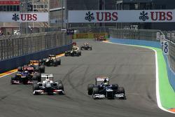 Sergio Pérez, Sauber F1 Team y Bruno Senna, Williams F1 Team