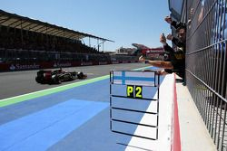 Lotus F1 Team team celebrate second position for Kimi Raikkonen, Lotus F1 Team