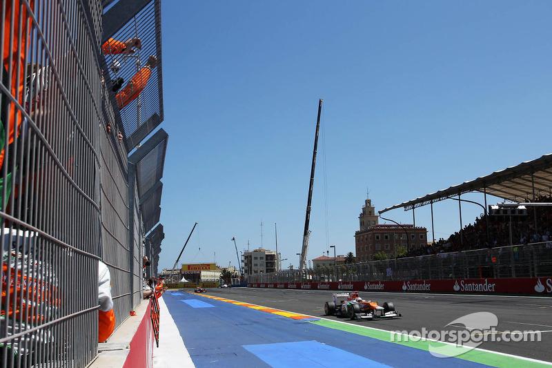 Paul di Resta, de Sahara Force India al finalizar la carrera