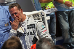 Михаэль Шумахер. ГП Европы, Воскресенье, после гонки.