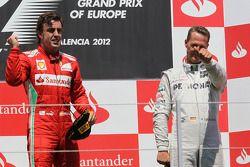 1. Fernando Alonso, Scuderia Ferrari, 3. Michael Schumacher, Mercedes AMG Petronas