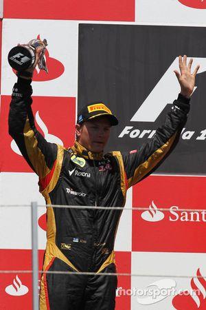 2nd place Kimi Raikkonen, Lotus Renault F1 Team