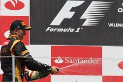 Segundo lugar Kimi Raikkonen, Lotus Renault F1 Team