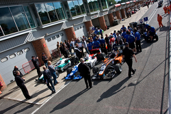 F3 cars in the assembly area