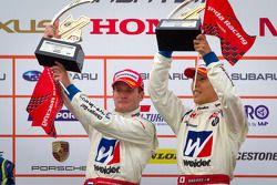 GT500 podium: winners Carlo Van Dam and Takashi Kogure