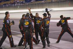 Austin Dillon's crew celebrates