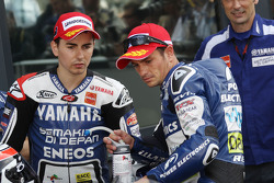 Jorge Lorenzo, Yamaha Factory Racing and Randy de Puniet, Aspar Team ART
