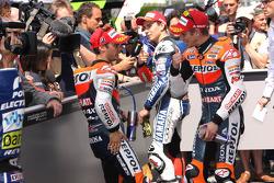 Casey Stoner, Repsol Honda Team, et Dani Pedrosa, Repsol Honda Team