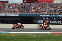 Dani Pedrosa, Repsol Honda Team, et Casey Stoner, Repsol Honda Team