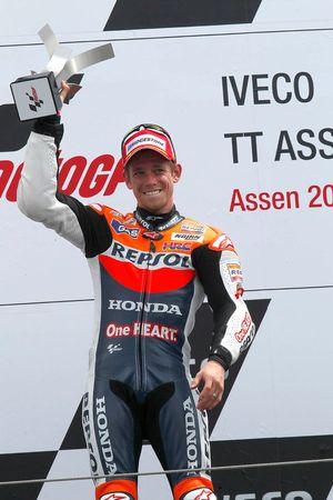 Podio: ganador de la carrera Casey Stoner, Repsol Honda Team