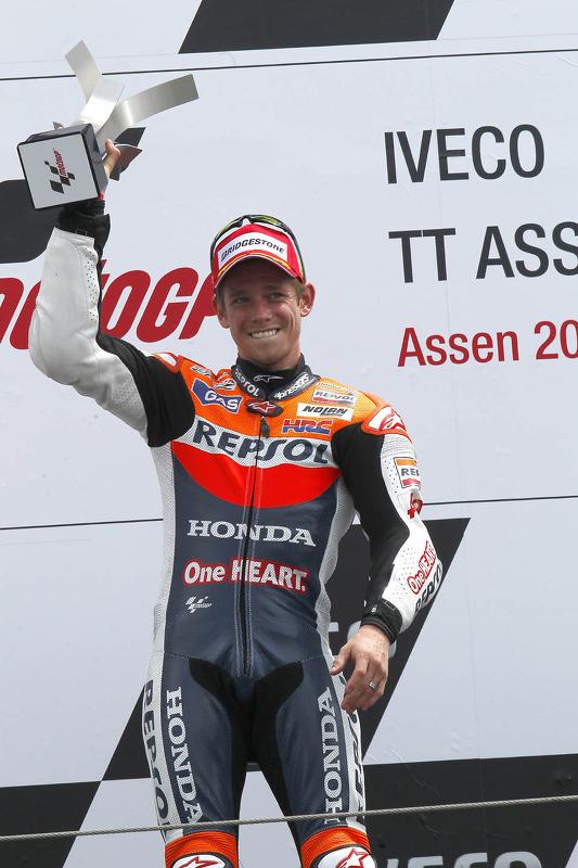 Podium : Casey Stoner, Repsol Honda Team, vainqueur
