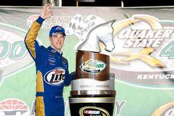 Victory lane: race winner Brad Keselowski, Penske Racing Dodge