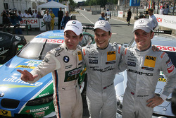 Polesitter Gary Paffett, Team HWA AMG Mercedes, AMG Mercedes C-Coupe, second place Jamie Green, Team