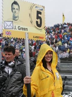 Grid girl of Jamie Green, Team HWA AMG Mercedes, AMG Mercedes C-Coupe
