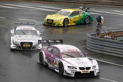 Andy Priaulx, BMW Team RBM BMW M3 DTM, Adrien Tambay, Audi Sport Team Abt Audi A5 DTM, Mike Rockenfeller, Audi Sport Team Phoenix Racing Audi A5 DTM