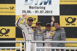 Podium, 2nd Martin Tomczyk, BMW Team RMG BMW M3 DTM, 1st Jamie Green, BMW Team Schnitzer BMW M3 DTM,