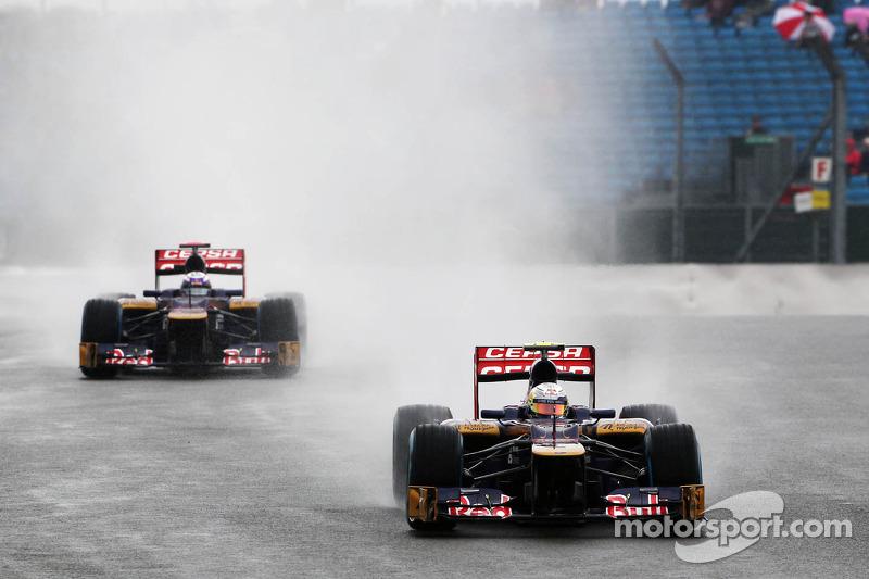 Jean-Eric Vergne, Scuderia Toro Rosso en ploegmaat Daniel Ricciardo, Scuderia Toro Rosso