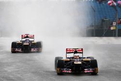 Jean-Eric Vergne, Scuderia Toro Rosso and team mate Daniel Ricciardo, Scuderia Toro Rosso