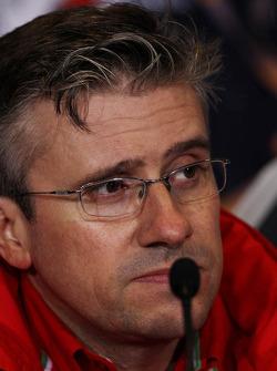 Pat Fry, Ferrari Deputy Technical Director en Head of Race Engineering in de FIA persconferentie