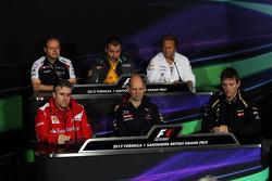 FIA persconferentie, Renault Deputy Managing Director, Sahara Force India F1 Team Deputy Team Princi