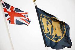 Union en FIA vlaggen