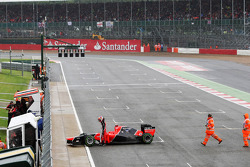 Timo Glock, Marussia F1 Team spin in kwalificaties