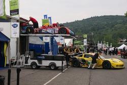 #9 RSR Racing Oreca FLM09 Chevrolet: Bruno Junqueira, Tomy Drissi , #3 Corvette Racing Compuware Chevrolet Corvette C6 ZR1: Jan Magnussen, Antonio Garcia