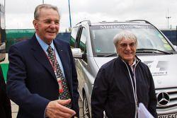 Jacques Rogge, IOC President met Bernie Ecclestone, CEO Formula One Group