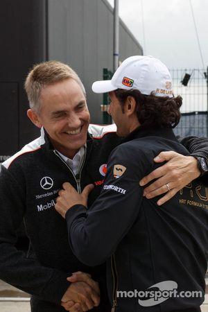 Martin Whitmarsh, McLaren Chief Executive Officer met Pedro De La Rosa, HRT Formula 1 Team