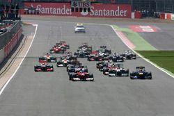 Start van de race, Fernando Alonso, Scuderia Ferrari