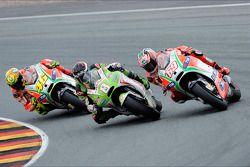 Hector Barbera, Pramac Racing Team and Nicky Hayden, Ducati Marlboro Team