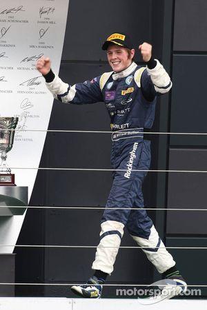Podium: race winner William Buller