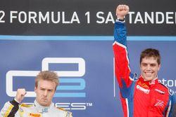 Podium: race winner Luiz Razia, second place Davide Valsecchi