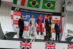 Podium: race winner Luiz Razia, second place Davide Valsecchi, third place Felipe Nasr