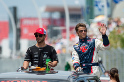 Марко Андретти и Эрнесто Визо. Торонто, воскресенье, перед гонкой.