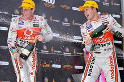 Podium: race winner Jamie Whincup, second place Craig Lowndes