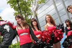 De Racecar gridgirls