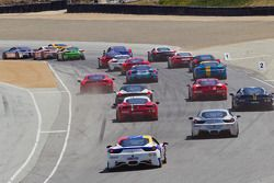 Ferrari Challenge Race #1 Start at turn 2