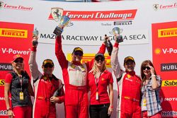 458 CS podium: first place Ryan Ockey, second place Damon Ockey, thrid place Robert Herjavec