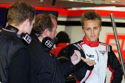 Max Chilton, Marussia F1 Team testrijder met vader Grahame Chilton