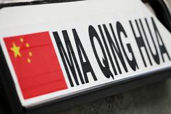 Pit board for Ma Qing Hua, Hispania Racing F1 Team, Test Driver