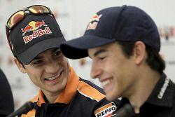 Дани Педроса и Марк Маркес. Марк Маркес подписал контракт с Repsol Honda на 2013 год, особое событие