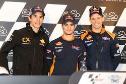 Кейси Стоунер, Дани Педроса и Марк Маркес. Марк Маркес подписал контракт с Repsol Honda на 2013 год,