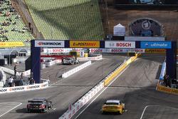 Timo Scheider, ABT Sportsline, Audi A5 DTM; Adrien Tambay, Audi Sport Team Abt, Audi A5 DTM; Ralf Sc