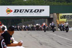 début de la course