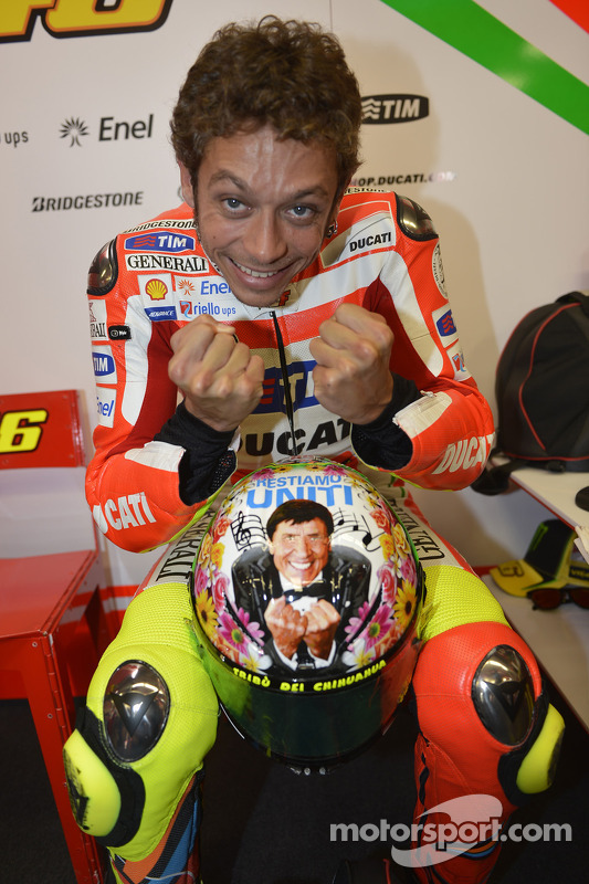 Valentino Rossi's speciale helm