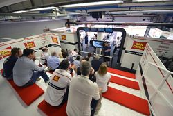 Team Gresini Honda pitbox